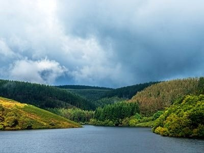 Llyn Brianne Reservoir Mid Wales in Autumn