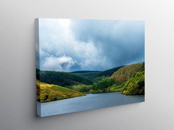 Llyn Brianne Reservoir Mid Wales in autumn on Canvas