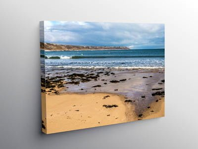 Port Eynon Beach on the Gower Peninslua South Wales on Canvas