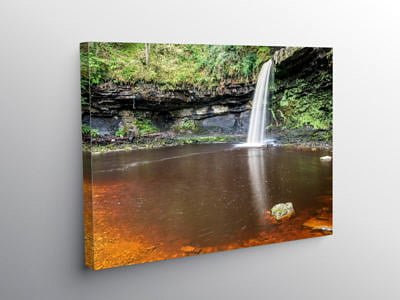 Scwd Gwladys Waterfall Vale of Neath on Canvas