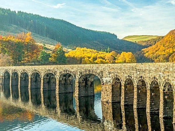 Garreg Ddu Reservoir and Dam Elan Valley Mid Wales