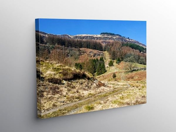 The Hills above Blaen Rhondda on Canvas