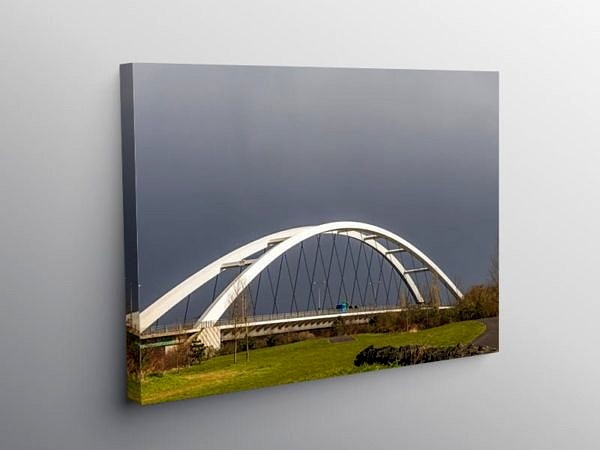 City Bridge Newport South Wales, Canvas Print