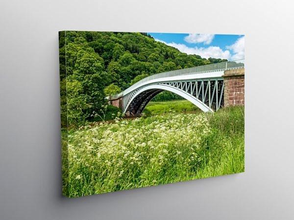 Bigsweir Bridge River Wye Monmouthshire, Canvas Print