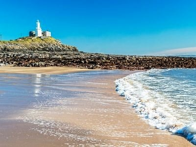 Mumbles Lighthouse Near Swansea south Wales