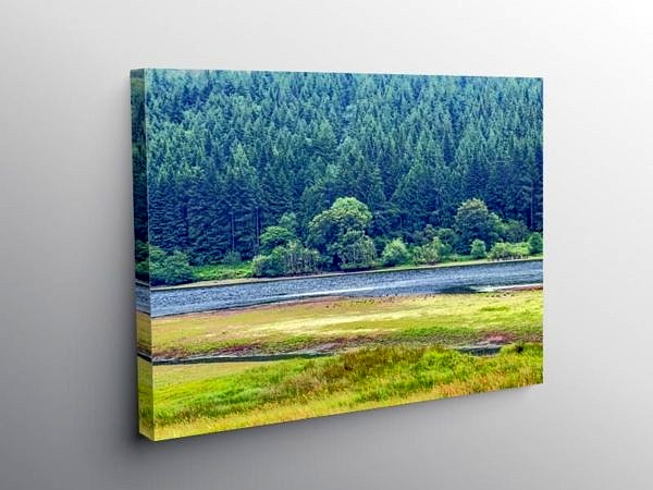 Talybont Reservoir Nature Reserve Brecon Beacons, Canvas Print