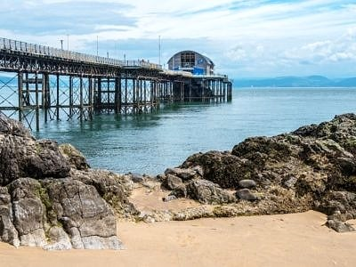 Mumbles Pier Swansea Bay south Wales