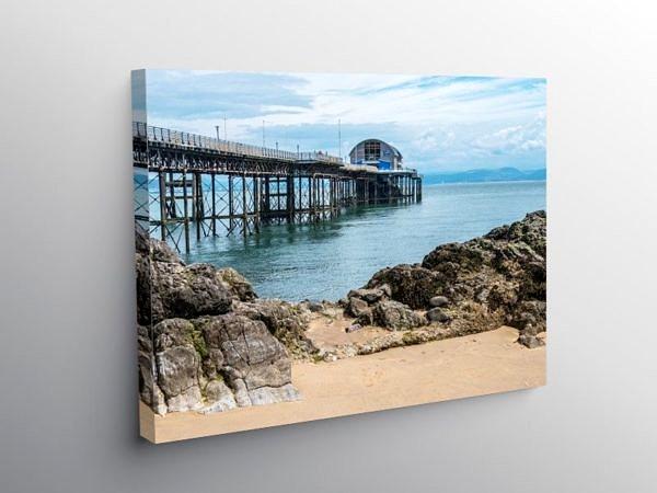 Mumbles Pier Swansea Bay south Wales, Canvas Print