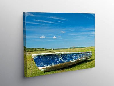 Marshes at Crofty on Gower, Canvas Print