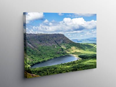 Llyn Fach Rhigos south Wales, Canvas Print