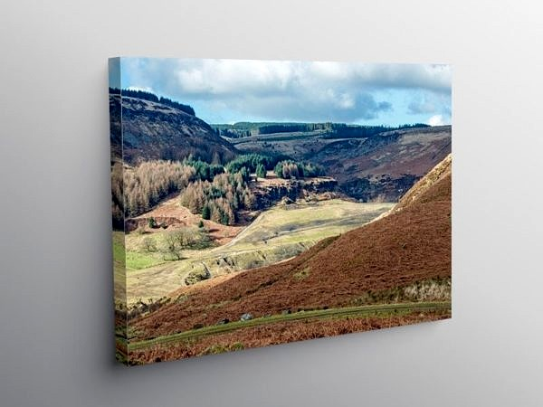 Rhondda Fawr Valley South Wales, Canvas Print