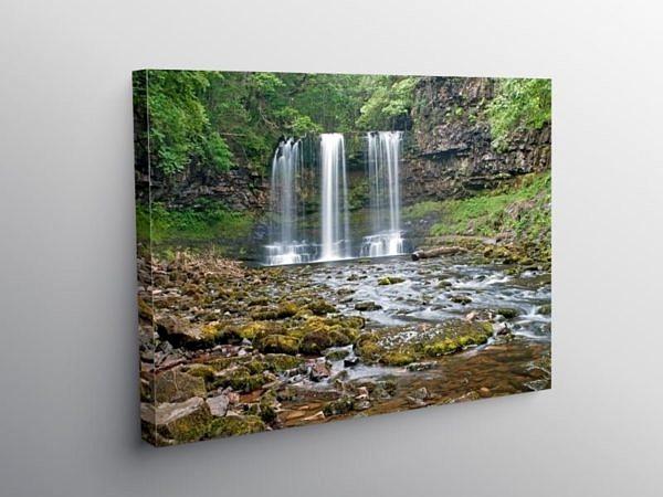 Sgwd yr Eira Waterfall Vale of Neath, Canvas Print