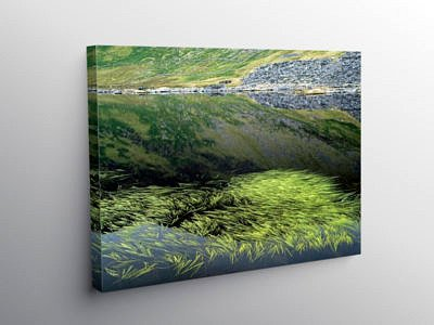 Llyn Cwmorthin Lake in North Wales, Canvas Print