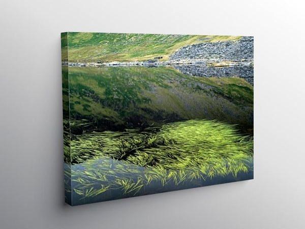 Llyn Cwmorthin Lake in North Wales, Canvas Print