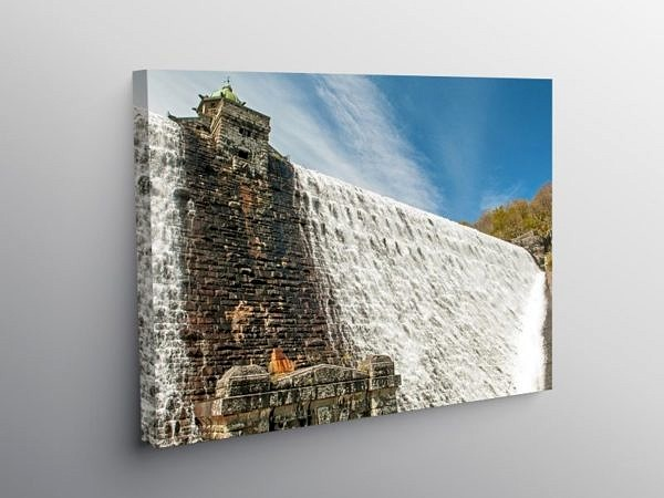 Pen y Garreg Dam Elan Valley, Canvas Print