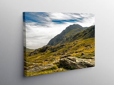 Tryfan from Cwm Idwal Snowdonia, Canvas Print