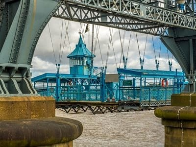 Newport Transporter Bridge Close Up