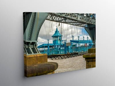 Newport Transporter Bridge Close Up, Canvas Print