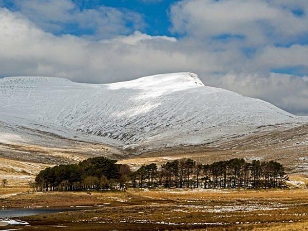 Pen y Fan Brecon Beacons under Snow