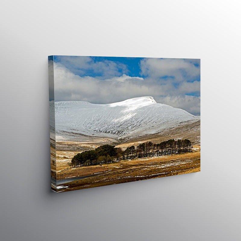Pen y Fan Brecon Beacons under Snow, Canvas Print