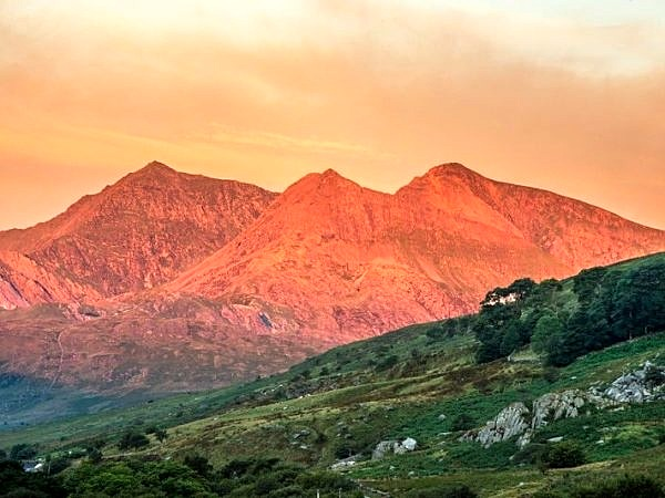 The Snowdon Horseshoe at Dawn North Wales