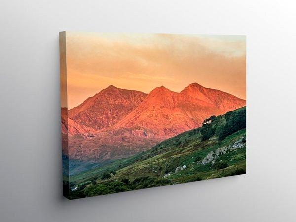 The Snowdon Horseshoe at Dawn Snowdonia National Park, Canvas Print