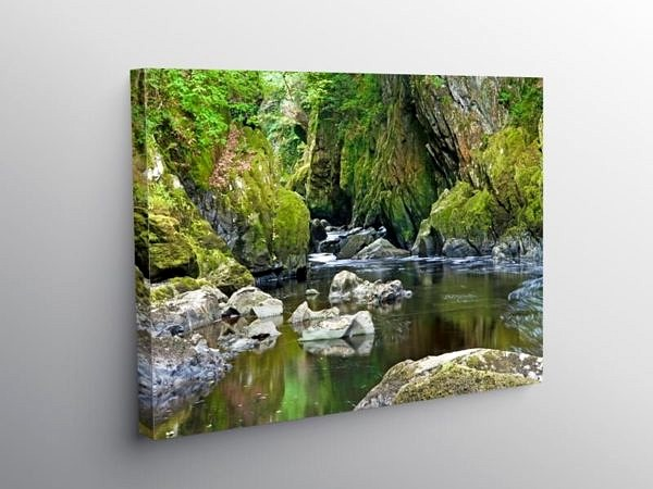 Fairy Glen Betws y Coed North Wales, Canvas Print