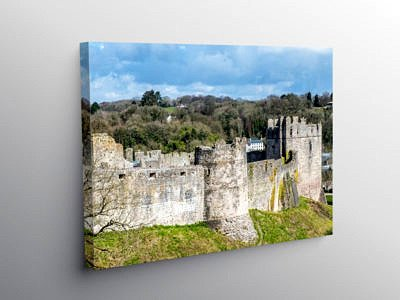 Chepstow Castle Monmouthshire, Canvas Print