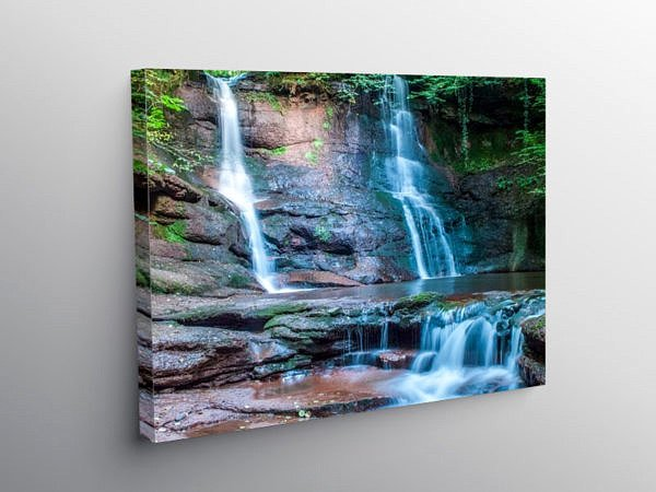 Pwll y Wrach or the Witches Pool Black Mountains, Canvas Print