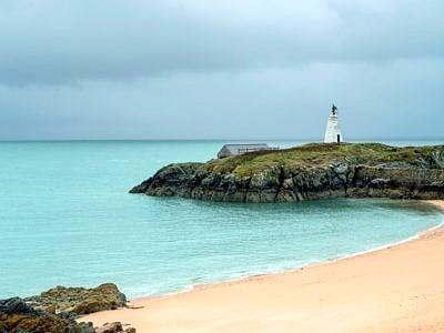 Beach on Llanddwyn Island Anglesey