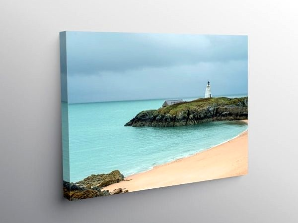 Beach on Llanddwyn Island Anglesey, Canvas Print