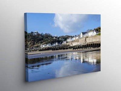 Amroth Village on the South Pembrokeshire Coast, Canvas Print
