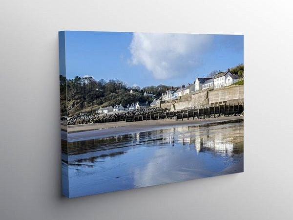 Amroth Village on the South Pembrokeshire Coast, Canvas Print