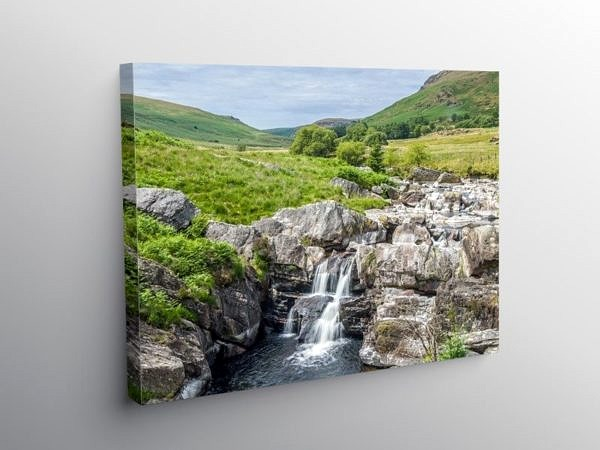 Waterfall on the River Claerwen, Canvas Print