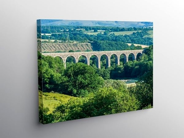 Cynghordy Viaduct on the Heart of Wales Railway Line, Canvas Print
