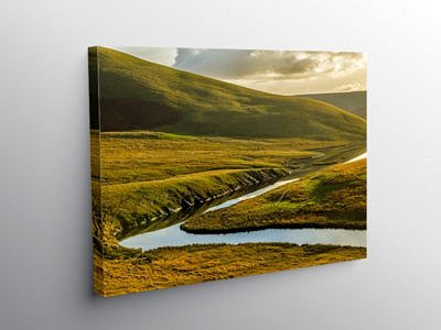 The Top of the Elan Valley Mid Wales, Canvas Print