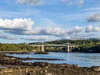 The Menai Bridge into Anglesey