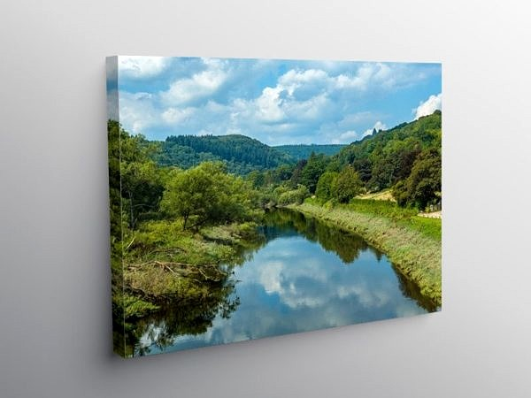 The River Wye from Brockweir Bridge, Canvas Print