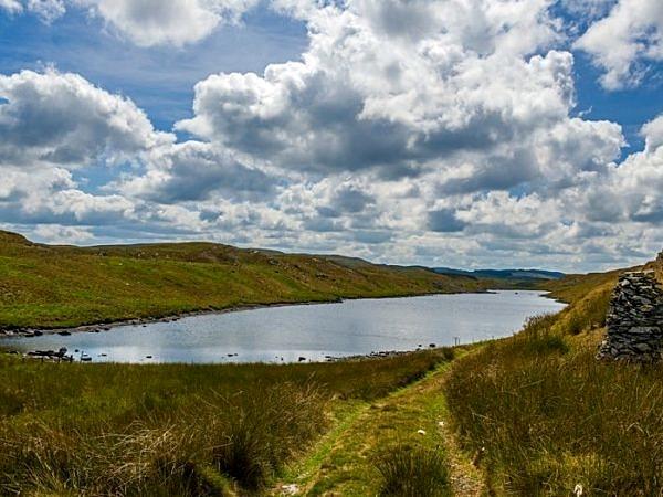 Llyn Hir in Ceredigion Mid Wales