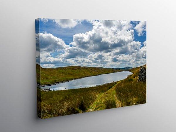 Llyn Hir Ceredigion Mid Wales, Canvas Print