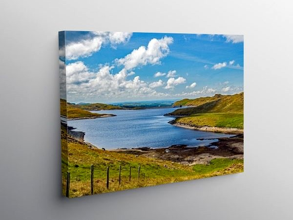 Llyn Teifi Teifi Pools Cambrian Mountains Mid Wales, Canvas Print