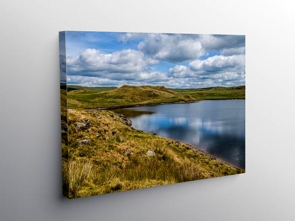 Llyn Egnant In the Cambrian Mountains, Canvas Print