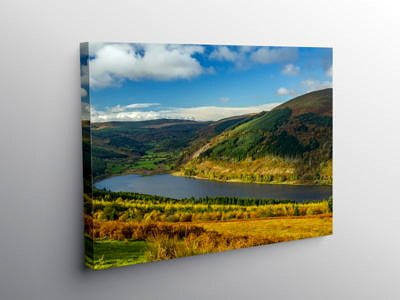The Talybont Reservoir Central Brecon Beacons, Canvas Print
