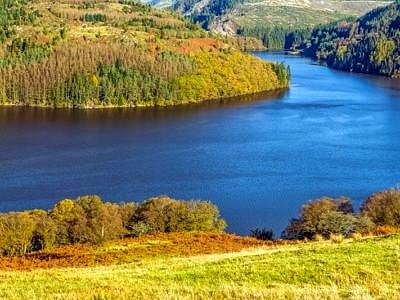 Llyn Brianne in Autumn Mid Wales