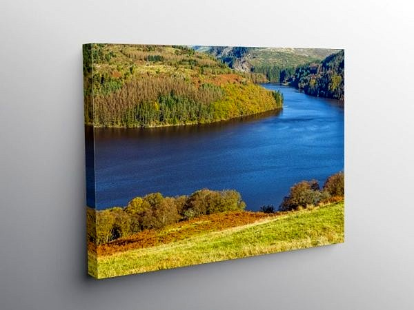 Llyn Brianne in Autumn Mid Wales, Canvas Print
