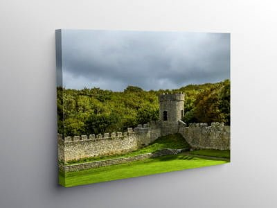 The Ice Tower Dunraven Bay Southerndown, Canvas Print