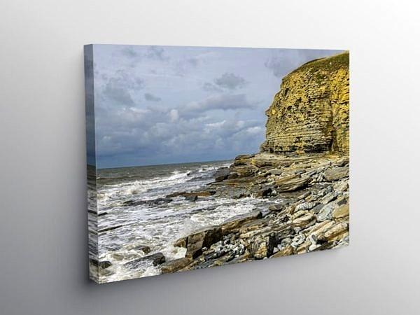 Cliffs at Dunraven Bay Southerndown Glamorgan Heritage Coast, Canvas Print