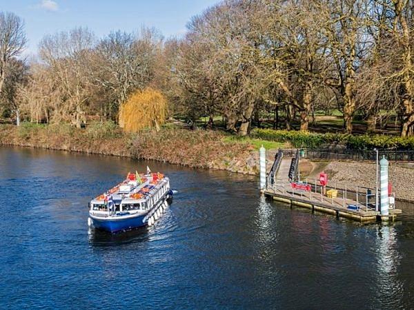 Passenger Boat Leaving Bute Park