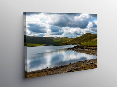 Llyn Egnant Lake Teifi Pools Ceredigion, Canvas Print