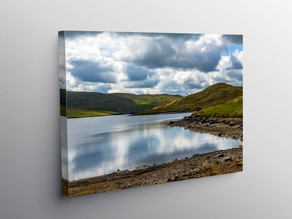 Llyn Egnant Lake Teifi Pools Ceredigion, Canvas Print